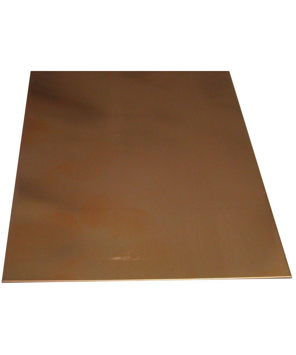 K & S Metal Sheet, 0.025 in. T, 10 in. L x 4 in. W, Copper