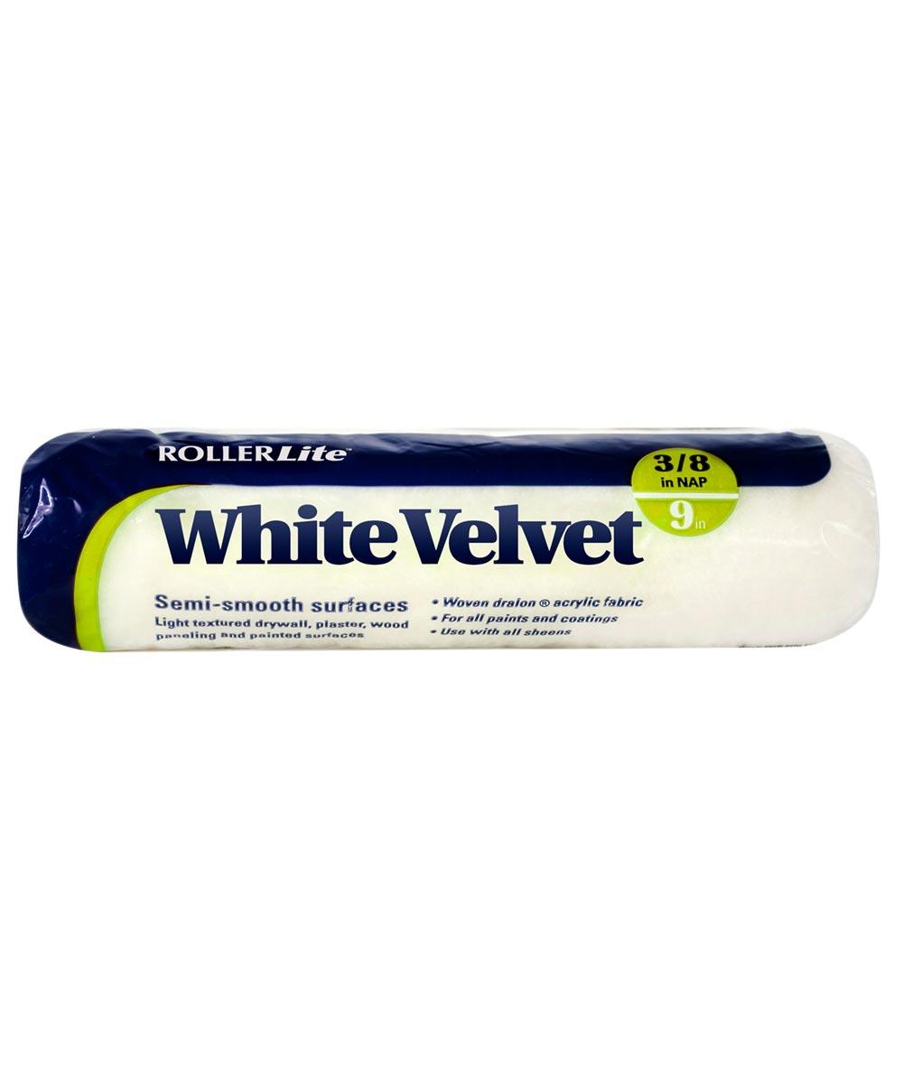 RollerLite 9 in. x 3/8 in. White Velvet Dralon Standard Paint Roller Cover