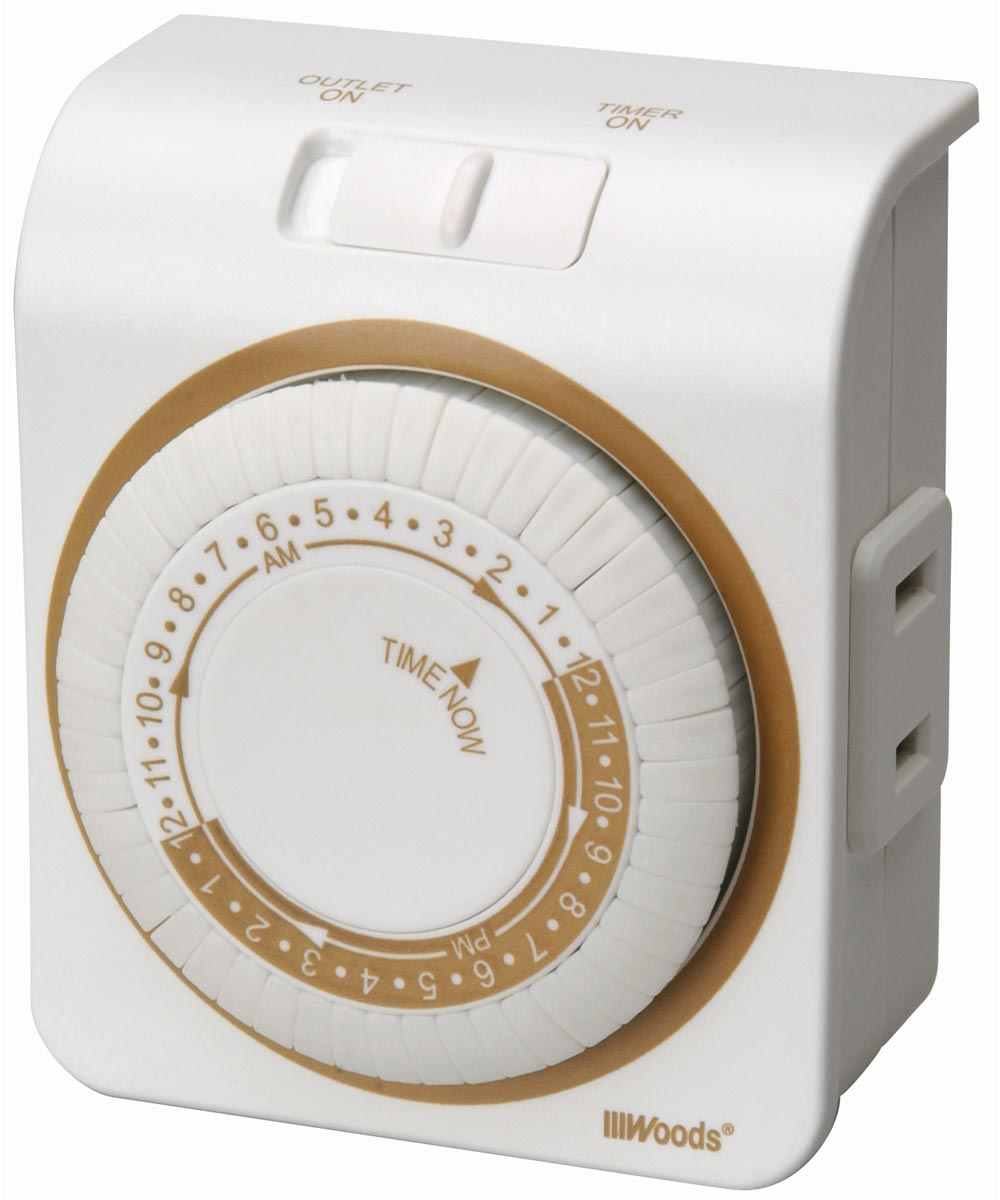 White 24 Hour Lamp & Appliance Timer