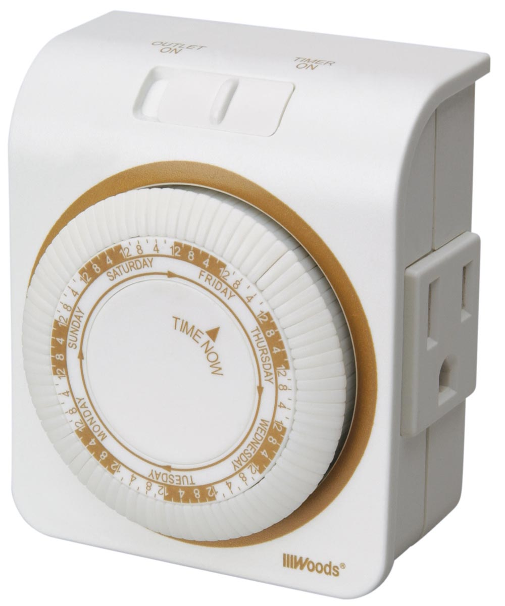 White 7 Day Indoor Mechanical Timer