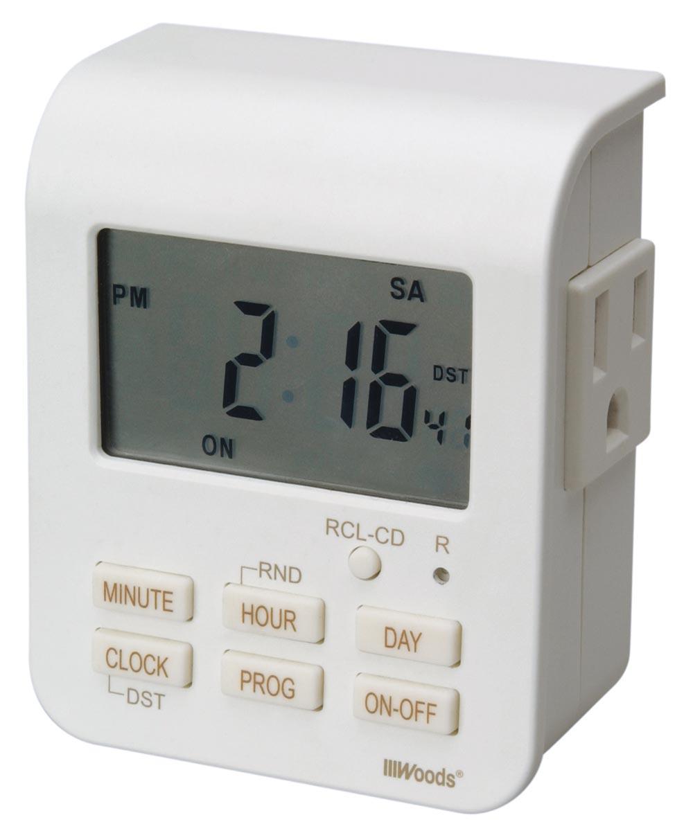 White Heavy Duty Indoor Digital Timer