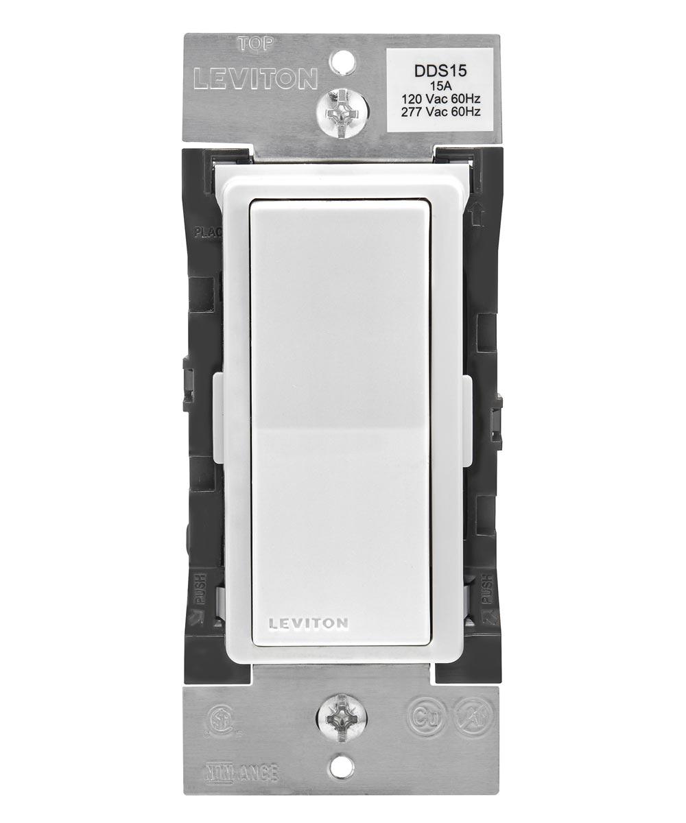 120/277V 15A White Decora Digital Bluetooth Switch