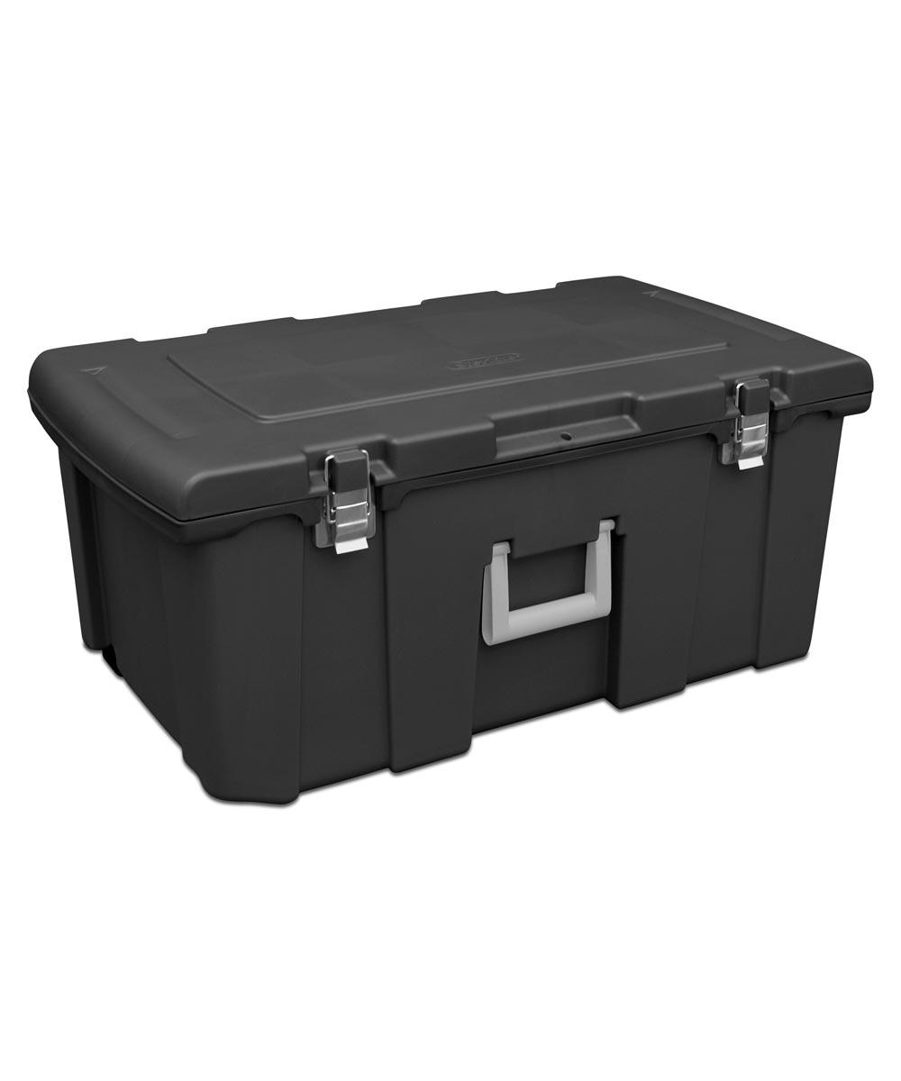 Sterilite Footlocker Storage Chest, Black