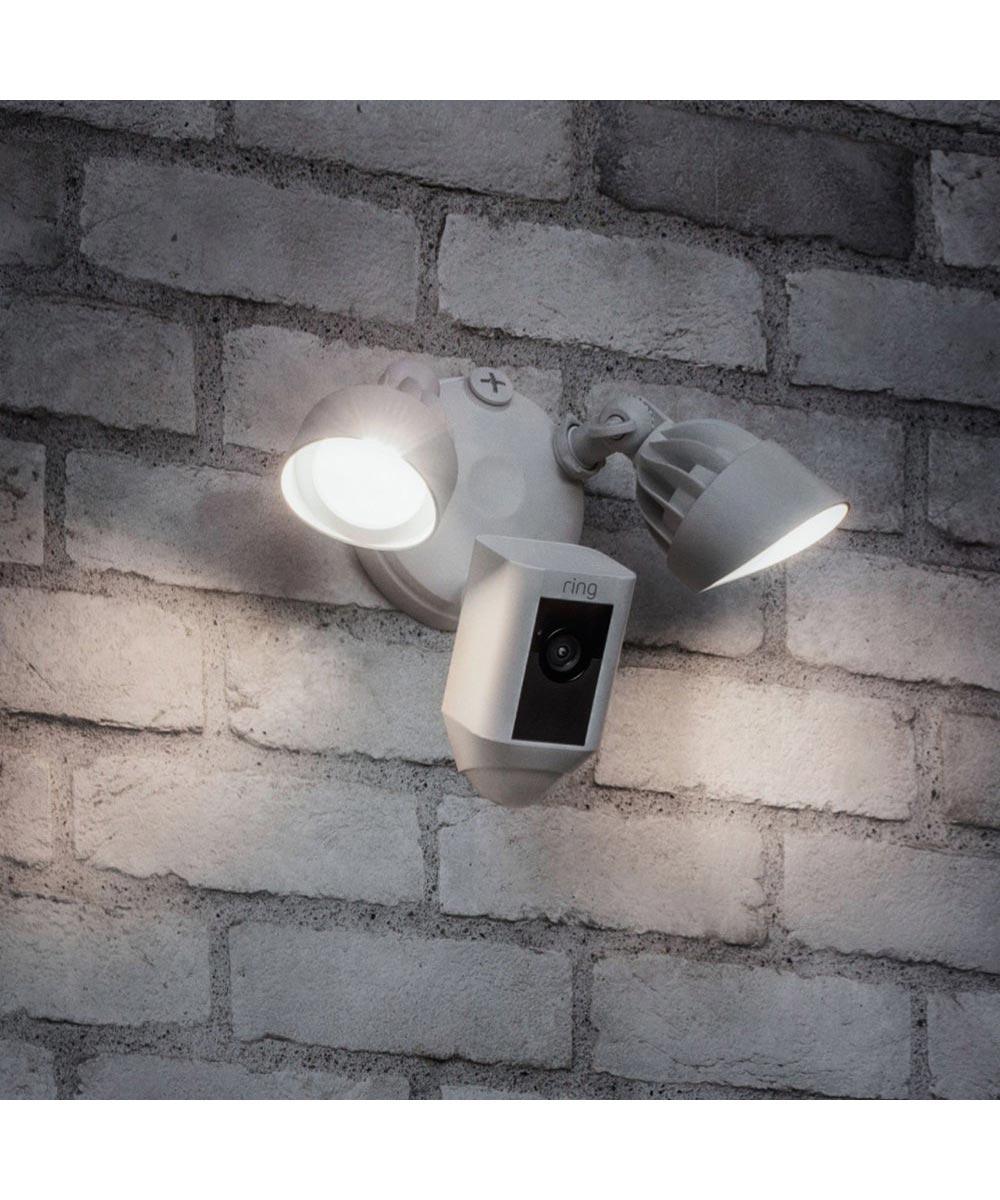 Ring Floodlight Cam Security Camera, White