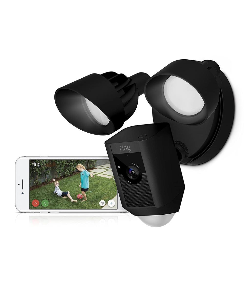 Ring Floodlight Cam Security Camera, Black
