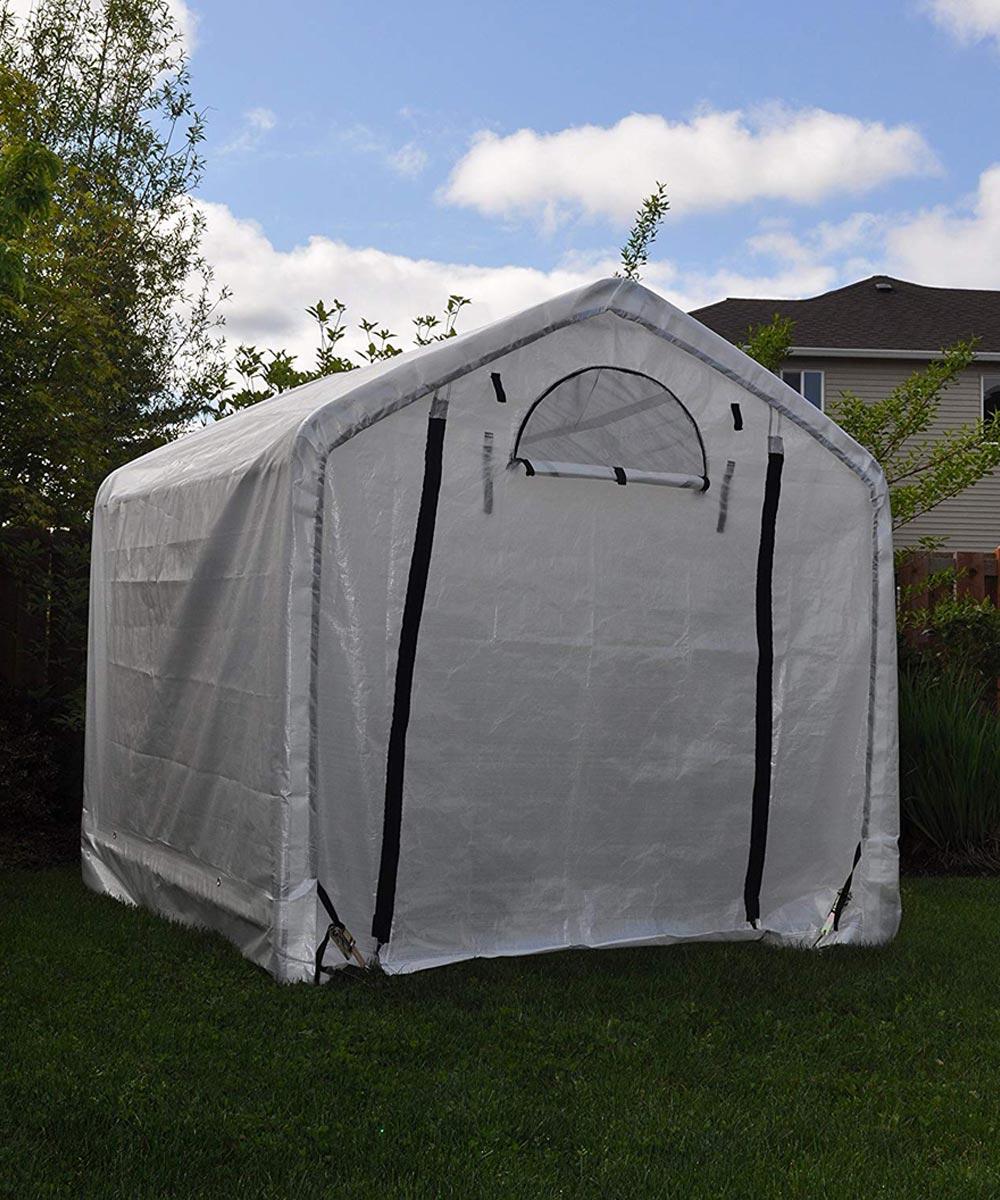 6 x 6 x 6 ft. Gray Dry Top Greenhouse