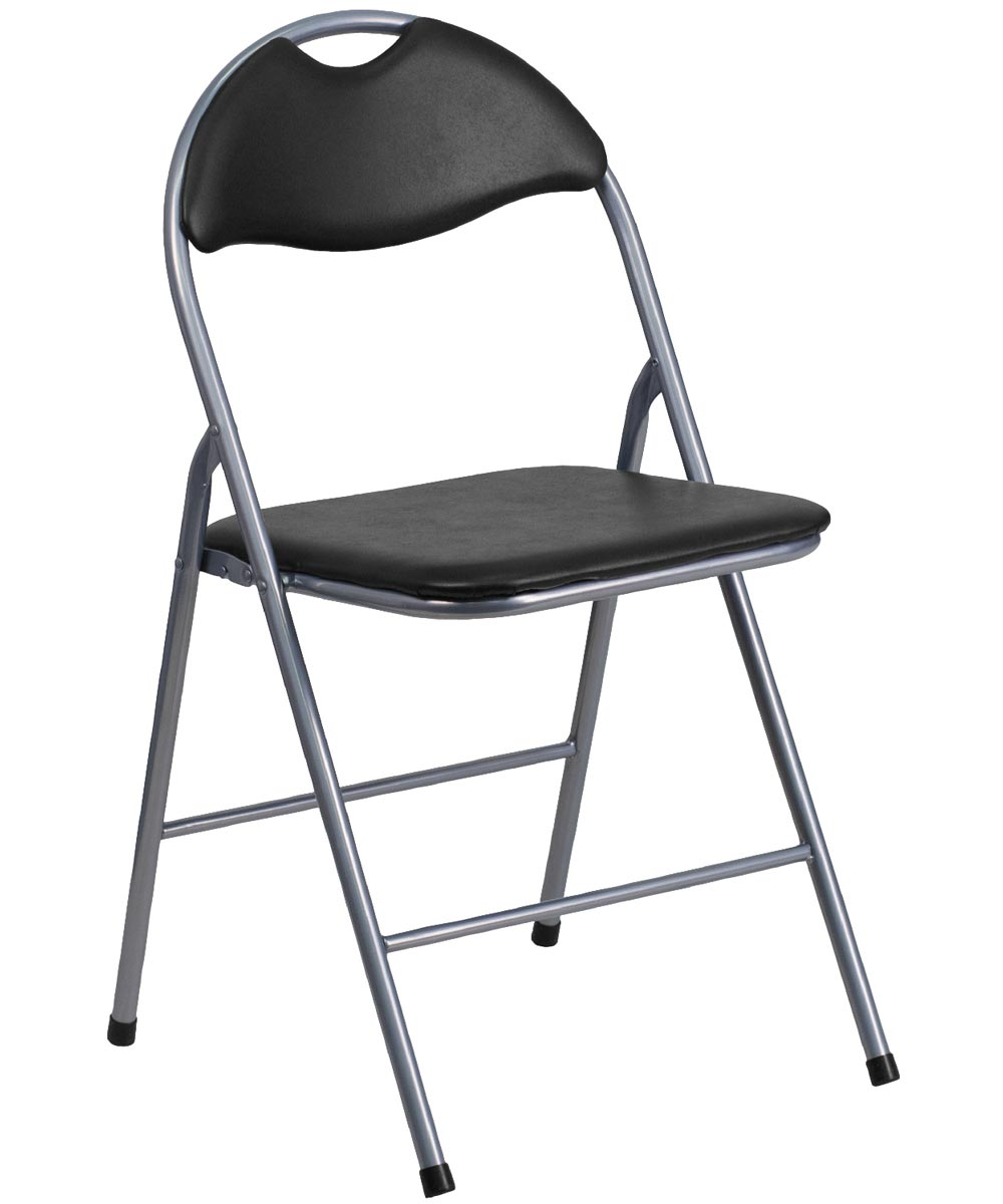 Padded Folding Chair Black City Mill