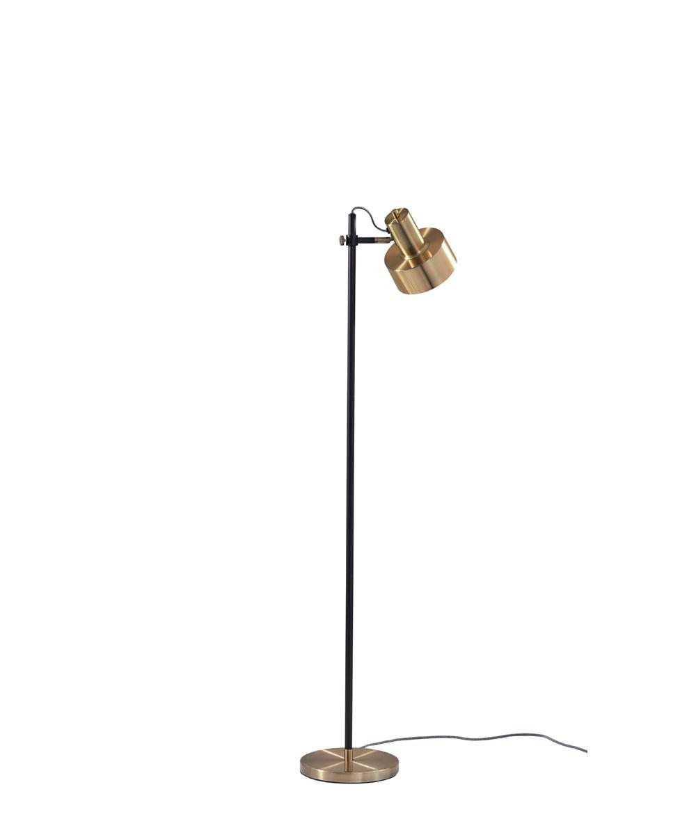 Clayton Floor Lamp, Black Brass