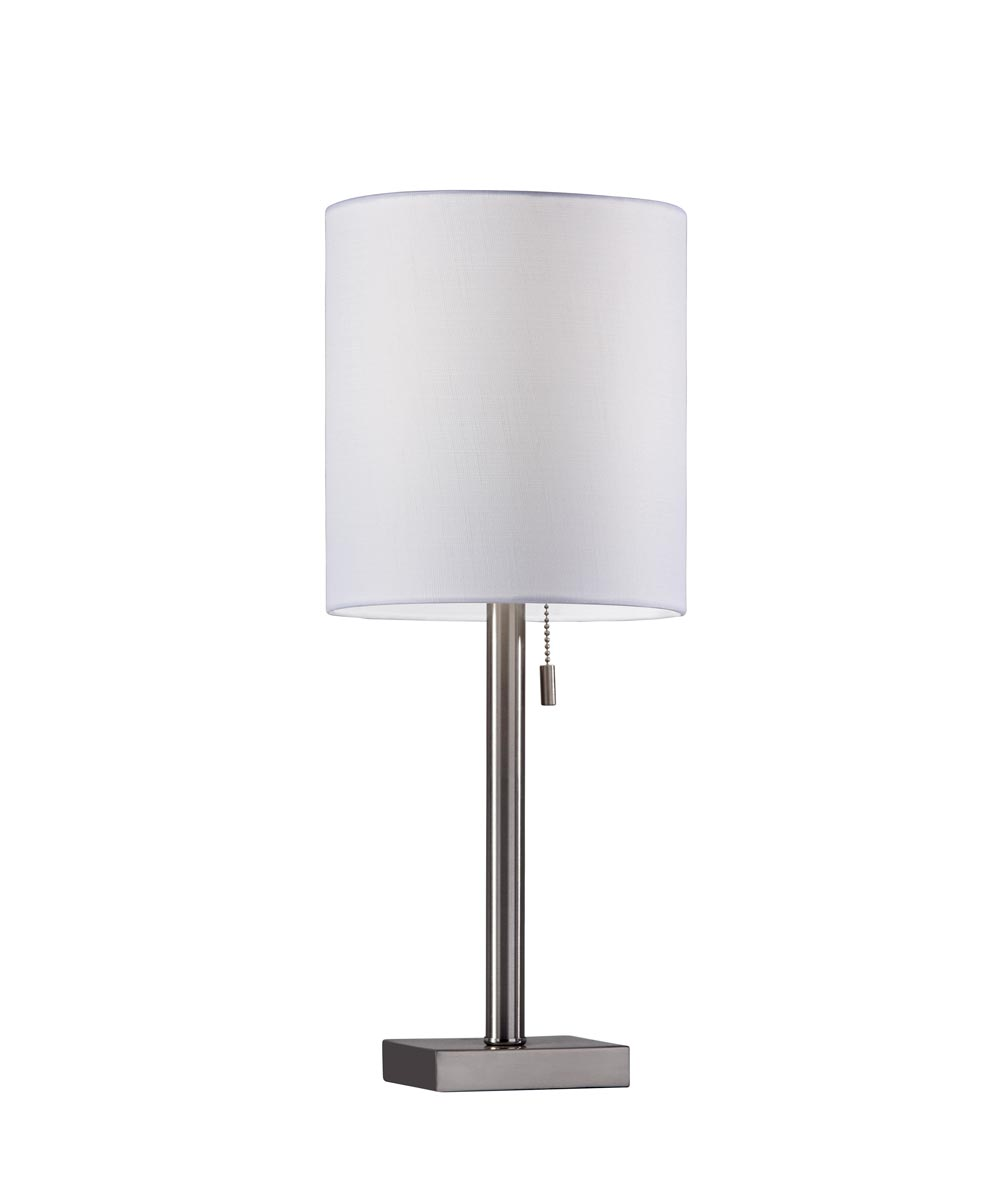 Liam Table Lamp, Brushed Steel