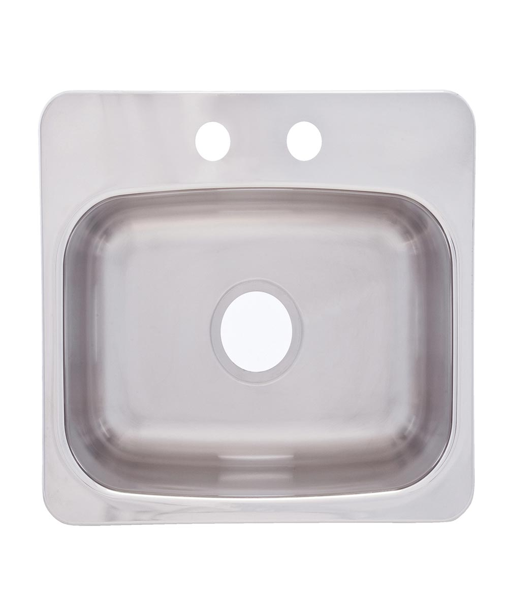 Franke 19.125 in. x 17 in. x 8 in. Stainless Steel 2-Hole Dual Mount Single Bowl Bar Sink