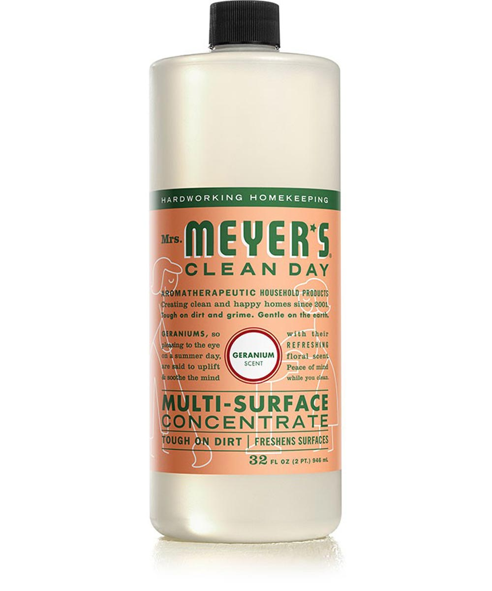 Mrs. Meyer's Clean Day Multi-Surface Concentrate All-Purpose Cleaner, Geranium Scent, 32 oz.