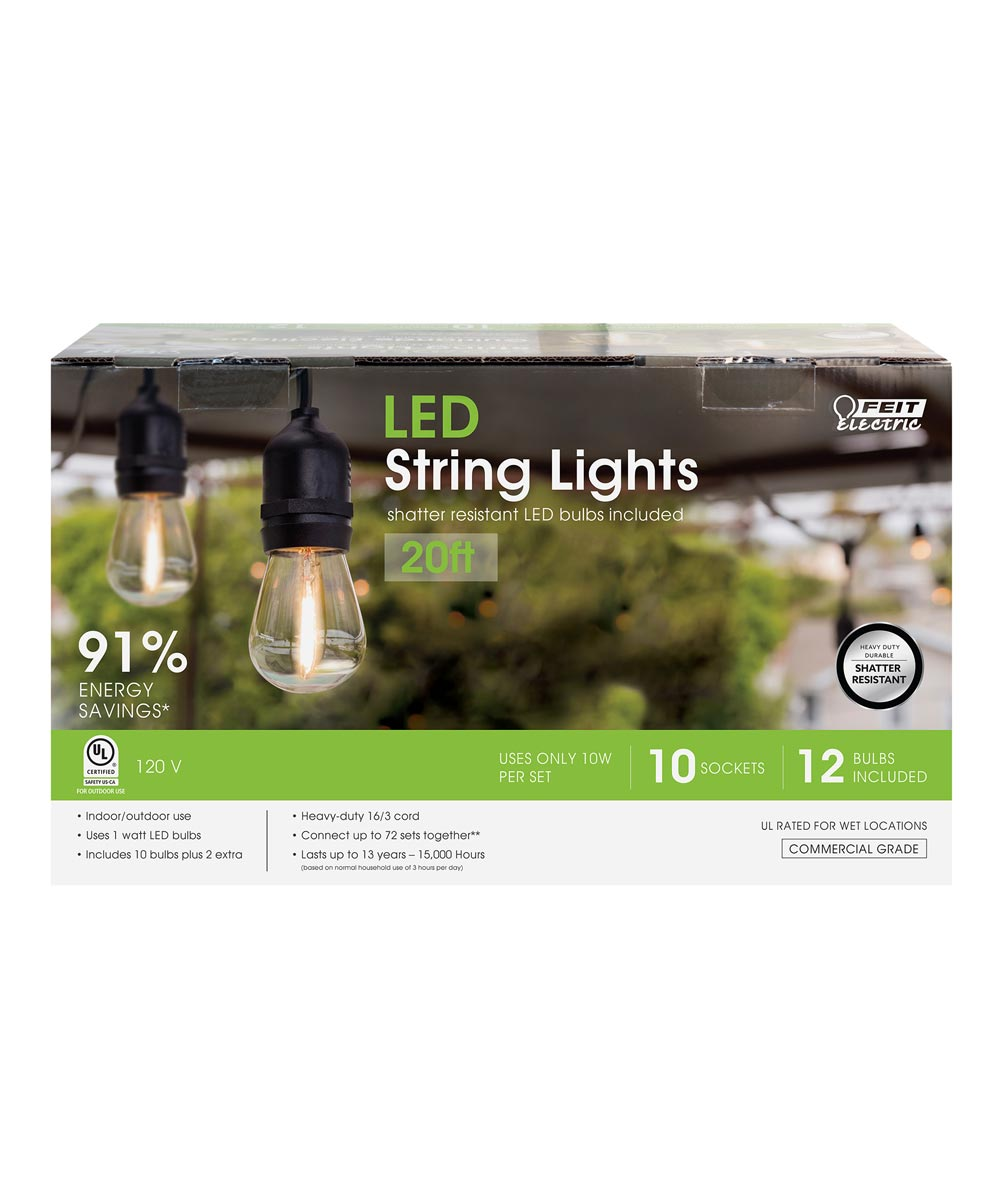 Feit Electric 20' 1 Watt LED String Lights