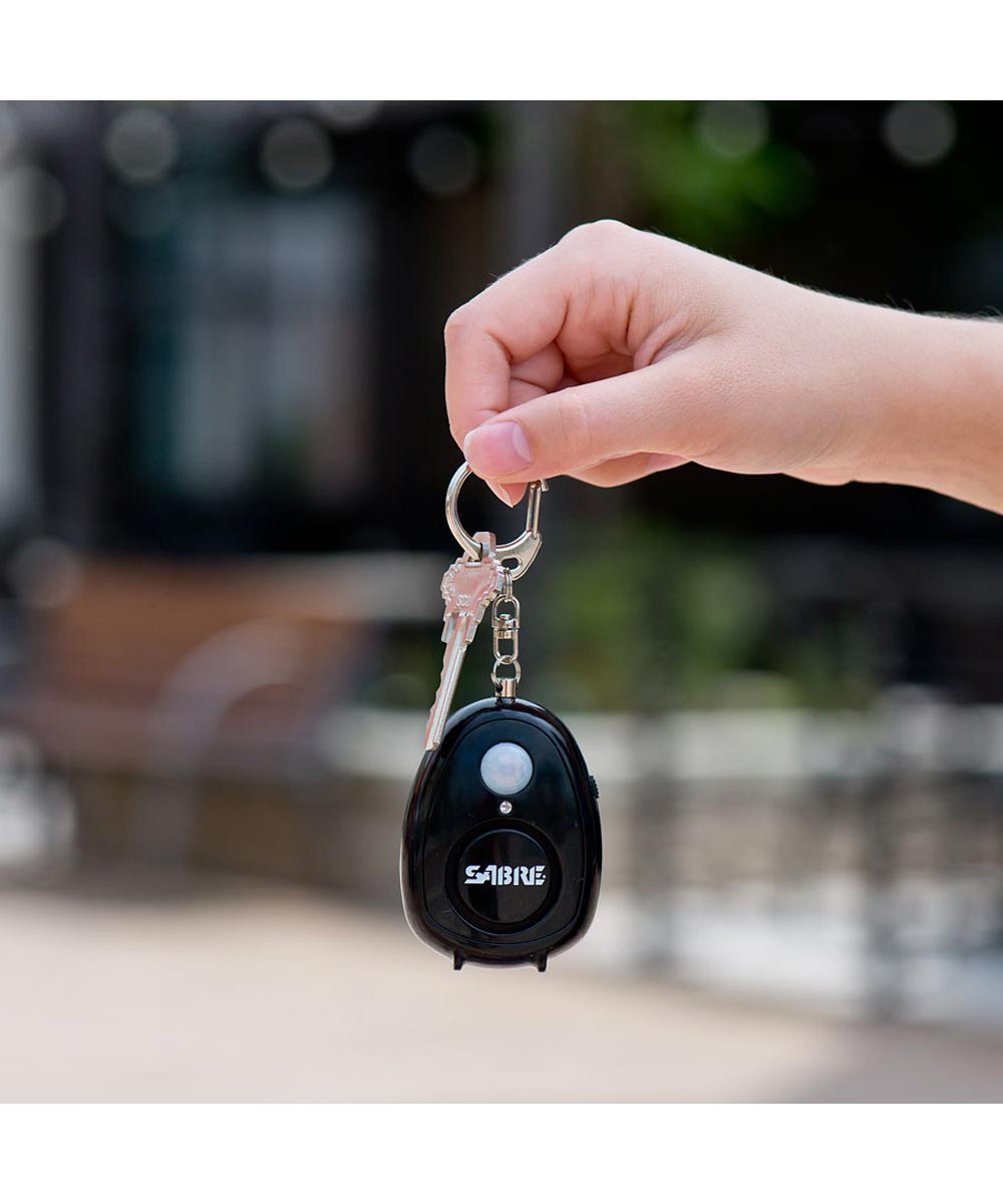 Sabre Personal Alarm with Motion Detector, Magnet and Key Ring, Black