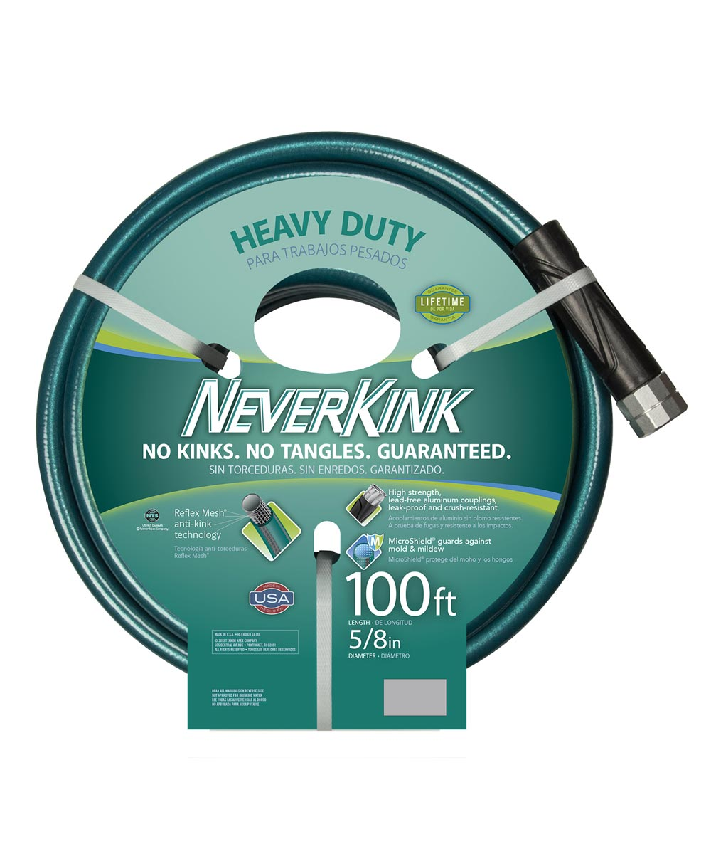 Apex 5/8 in. x 100 ft. Heavy Duty NeverKink Water Hose