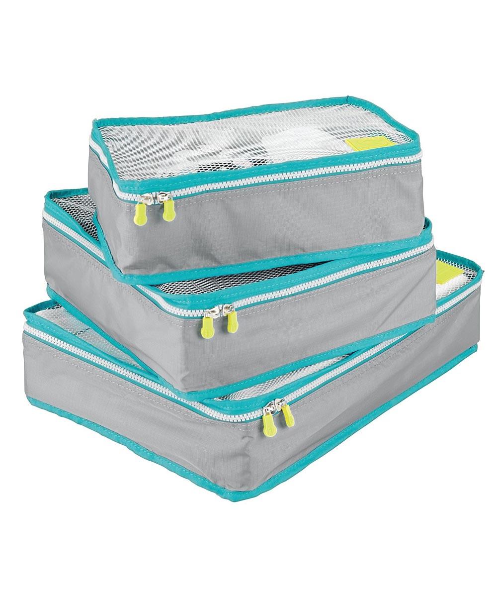 Gray & Teal Aspen Packing Cubes Set Of 3