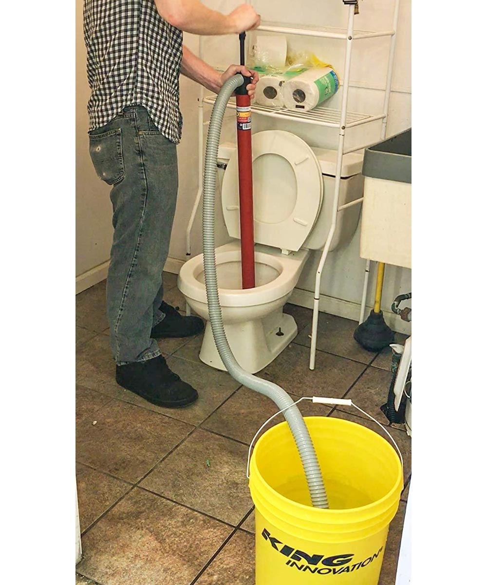 Siphon King 36 in. Utility Hand Water Pump with 72 in. Hose