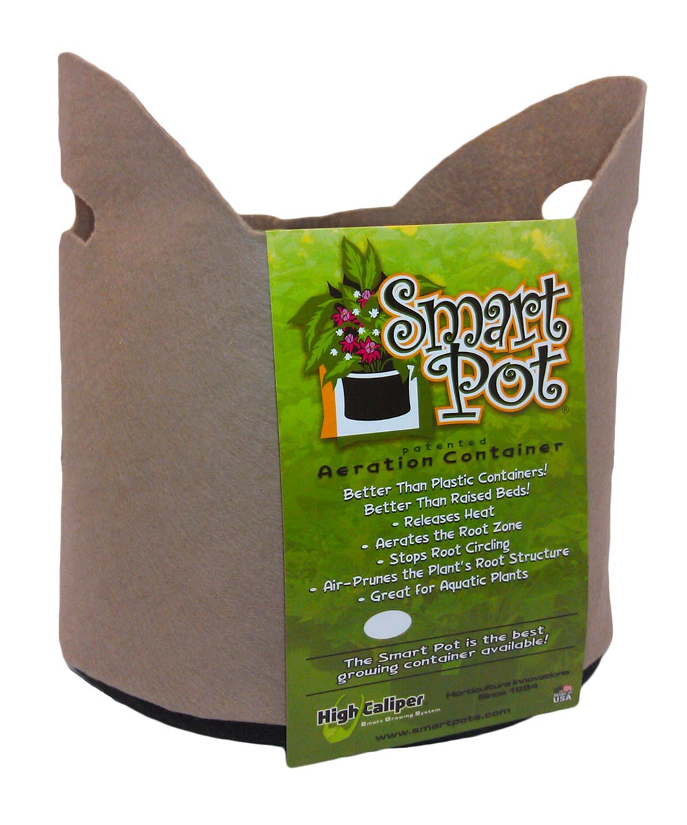 Smart Pots 3-Gallon Soft-Sided Plant Container with Handles, Tan