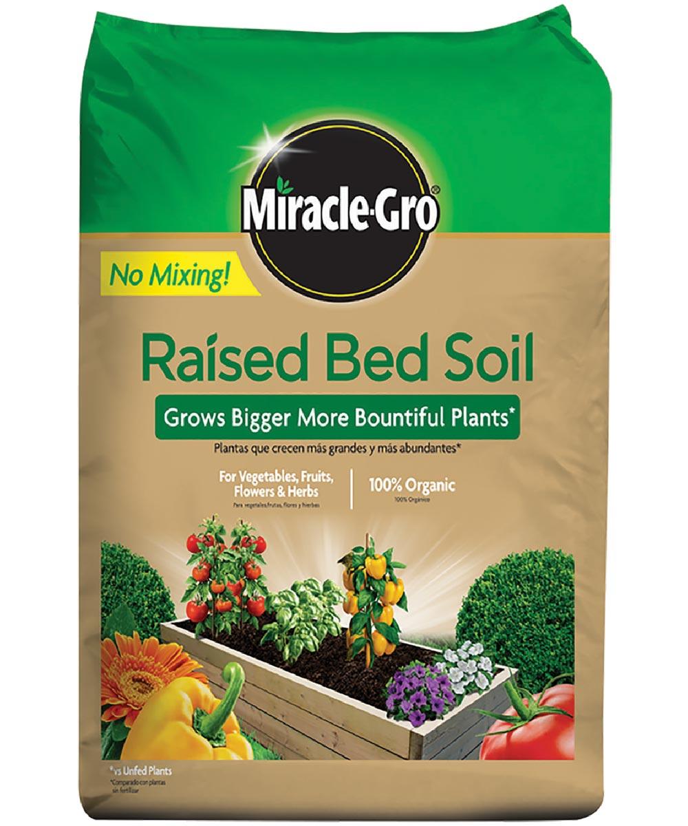 Miracle-Gro 1.5 Cu Ft Organic Raised Bed Soil