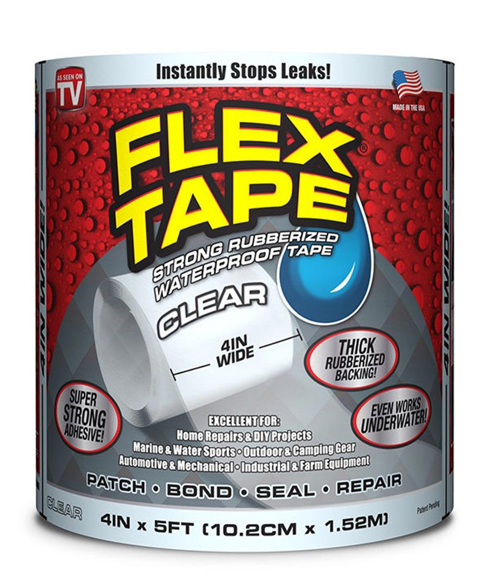 4 in. x 5 ft. Waterproof Flex Tape, Clear