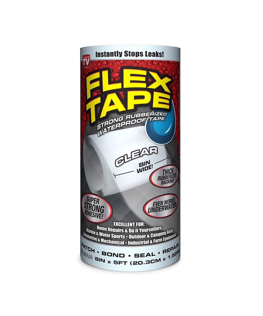 8 in. x 5 ft. Waterproof Flex Tape, Clear