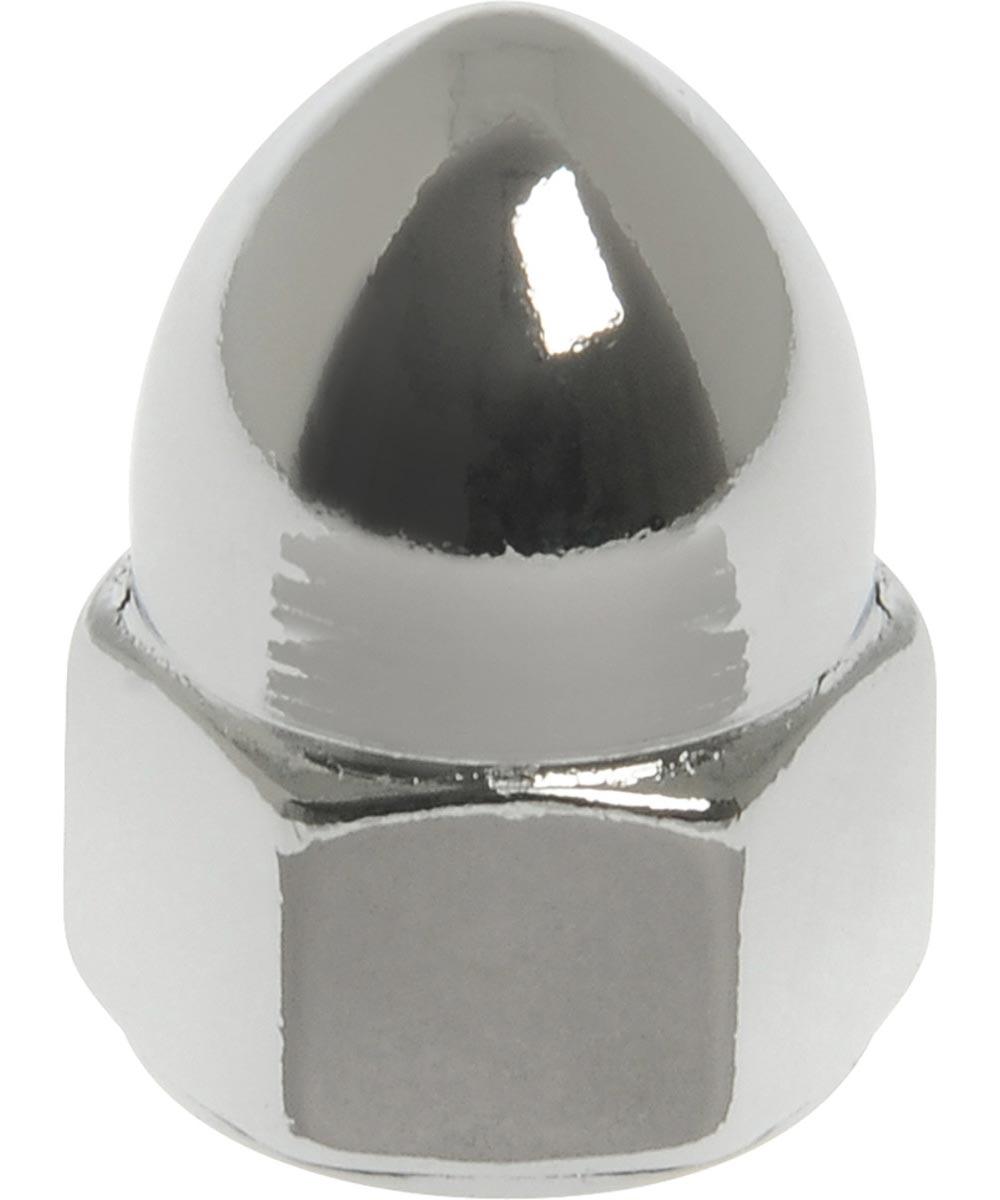 Chrome High Crown Acorn Nuts (3/8-24)