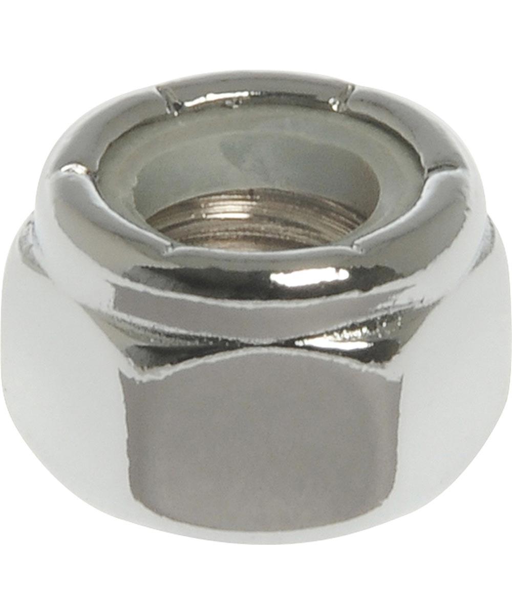 4-Pack Chrome Nylon Insert Lock Nut (#10-24)