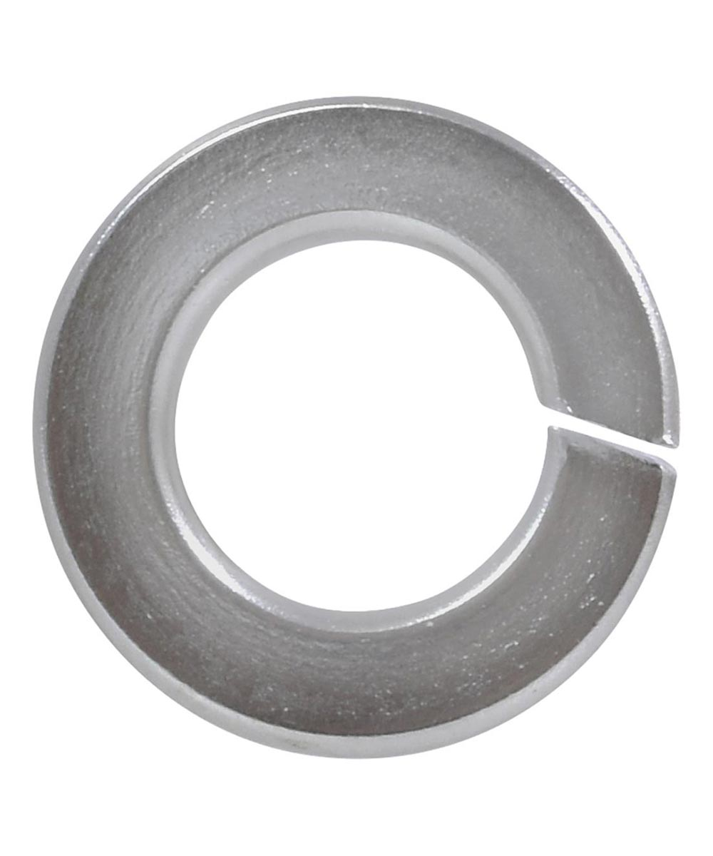 Chrome Bagged Split Lock Washers (1/4 in. Screw Size), 4 Pieces