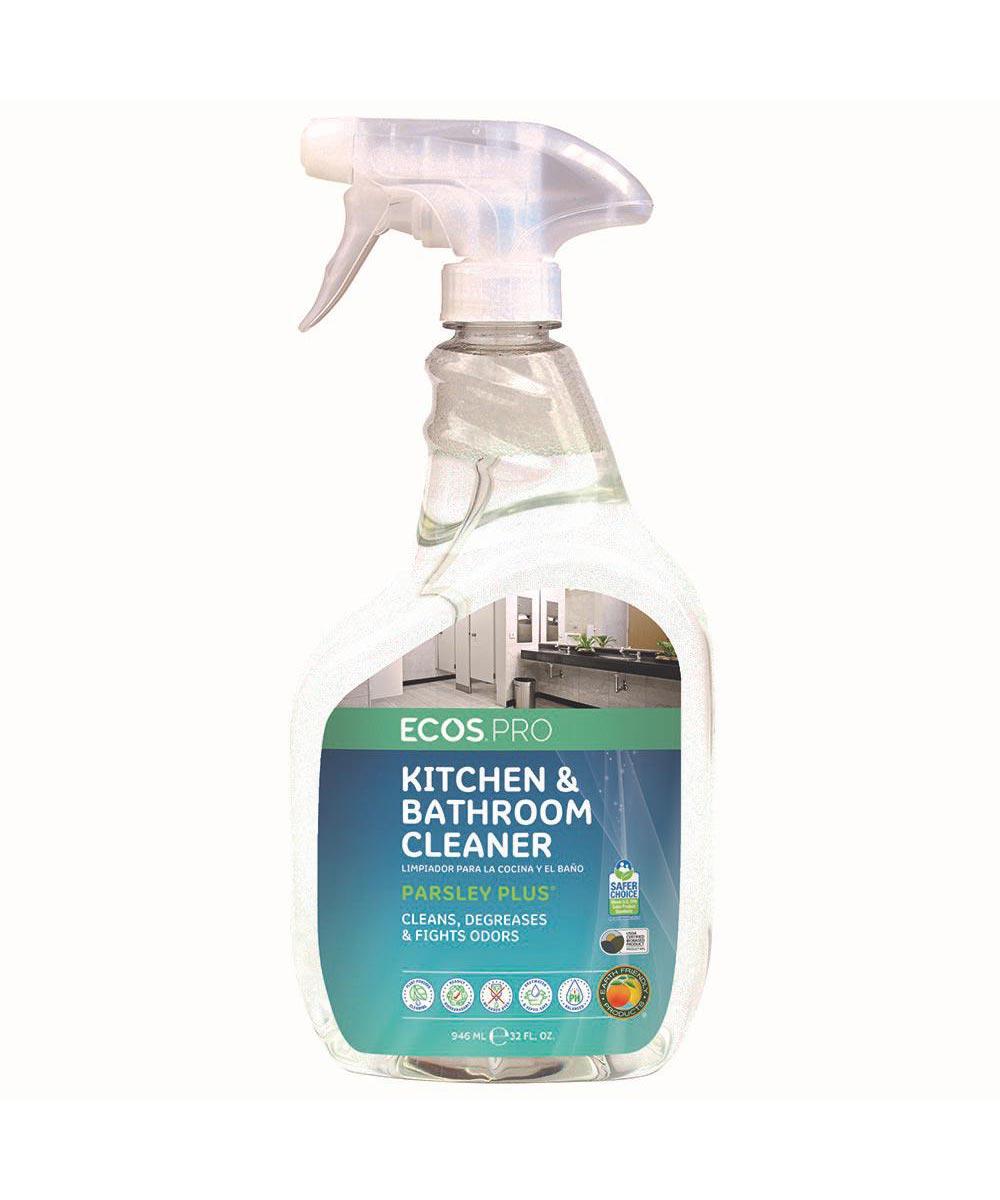 ECOS Pro Parsley Plus Kitchen-& Bathroom Cleaner, 32 oz Sprayer
