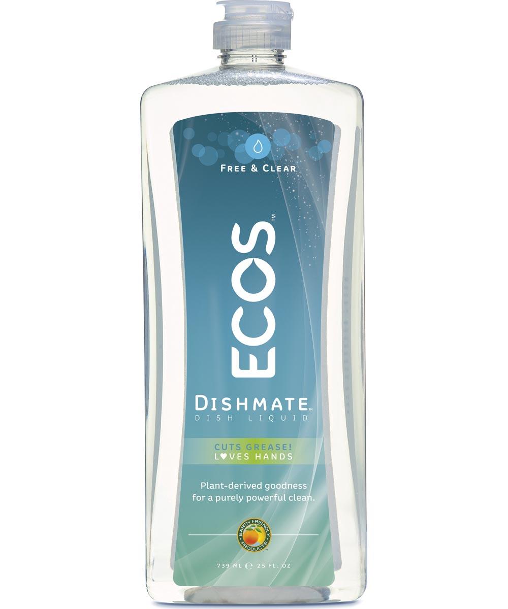 ECOS Dishmate Hypoallergenic Dish Soap, Free & Clear Fragrance Free, 25 oz.