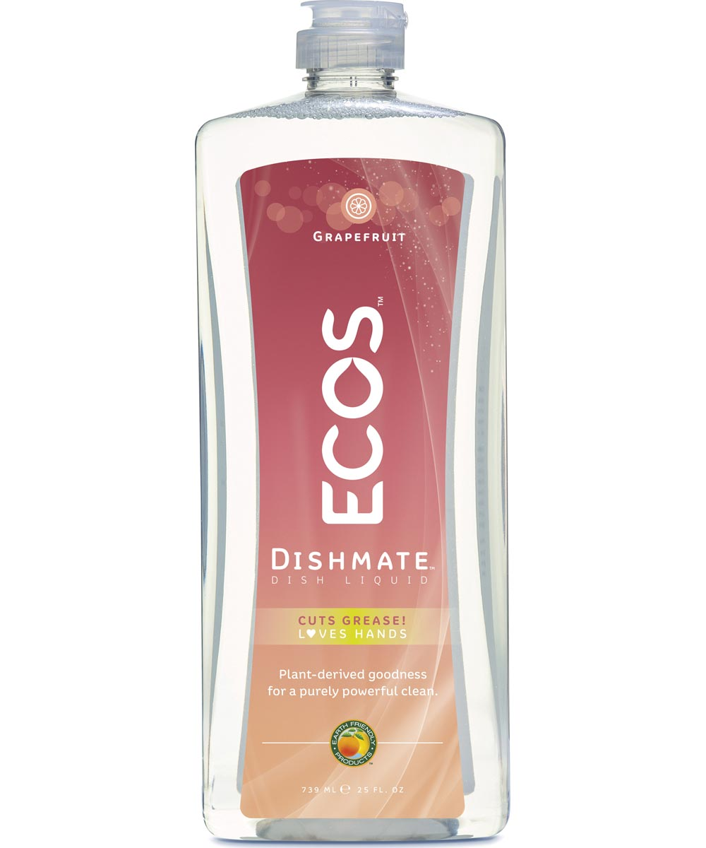 ECOS Dishmate Hypoallergenic Dish Soap, Grapefruit Scented, 25 oz.