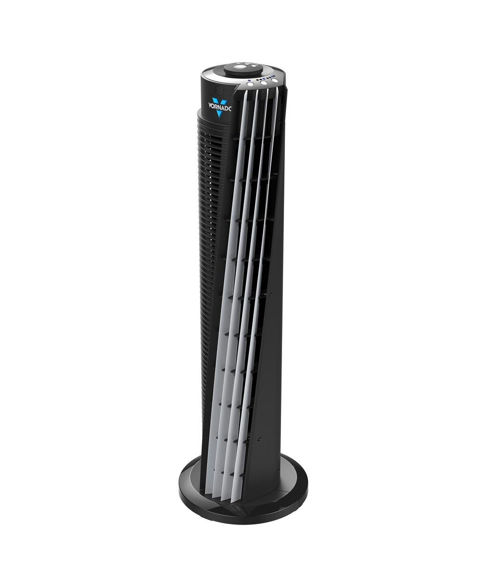 143 V-Flow 29 in. Tower Fan Air Circulator with Remote Control