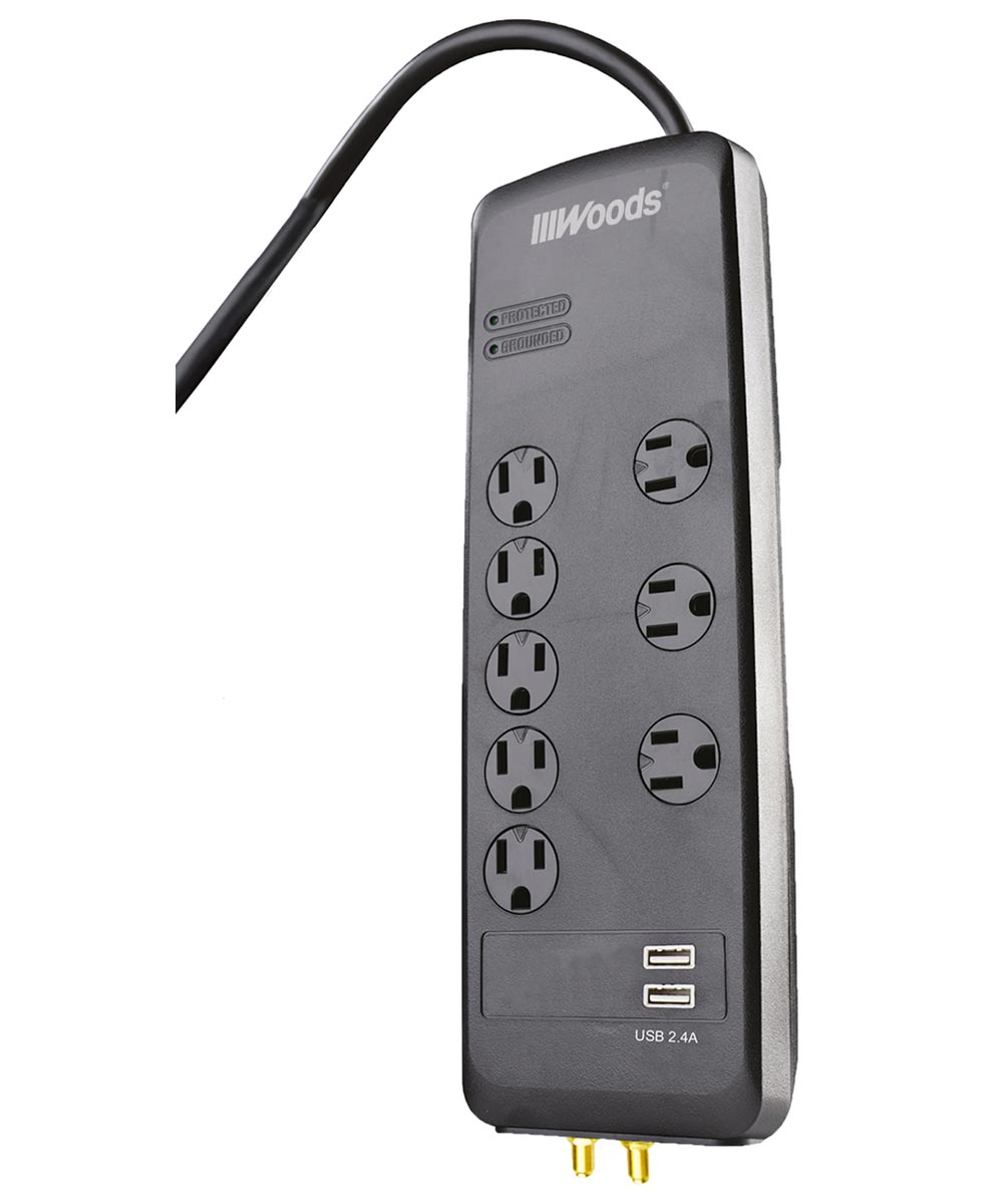 3,540 Joules 8-Outlet Surge Protector Strip with 6 ft. Cord