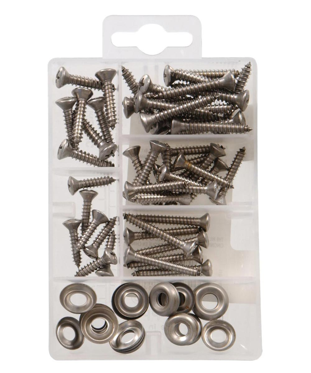 Stainless Steel Oval Head Phillips Sheet Metal Screws Kit Small