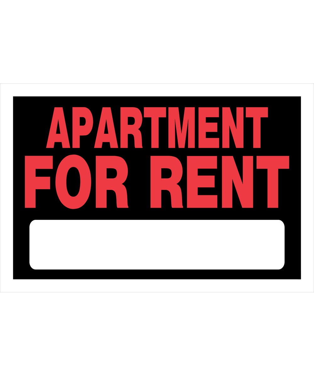 Apartment For Rent Sign, 8 x 12