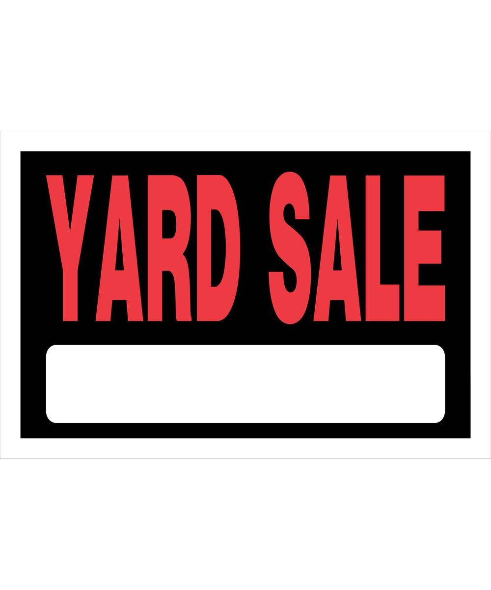Yard Sale Sign 8 in. X 12 in.