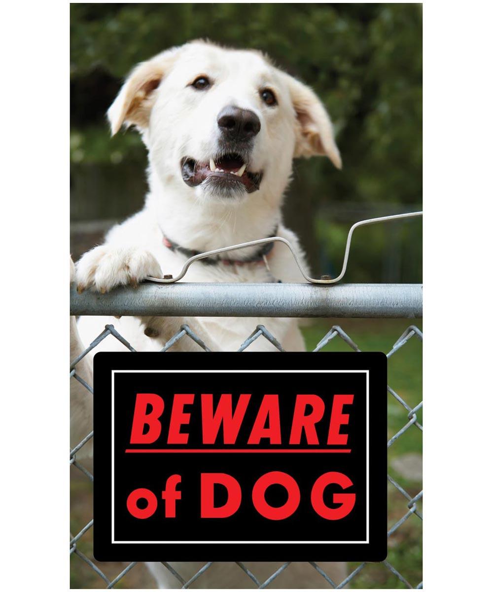 Black Beware of Dog Sign 10 in. x 14 in.