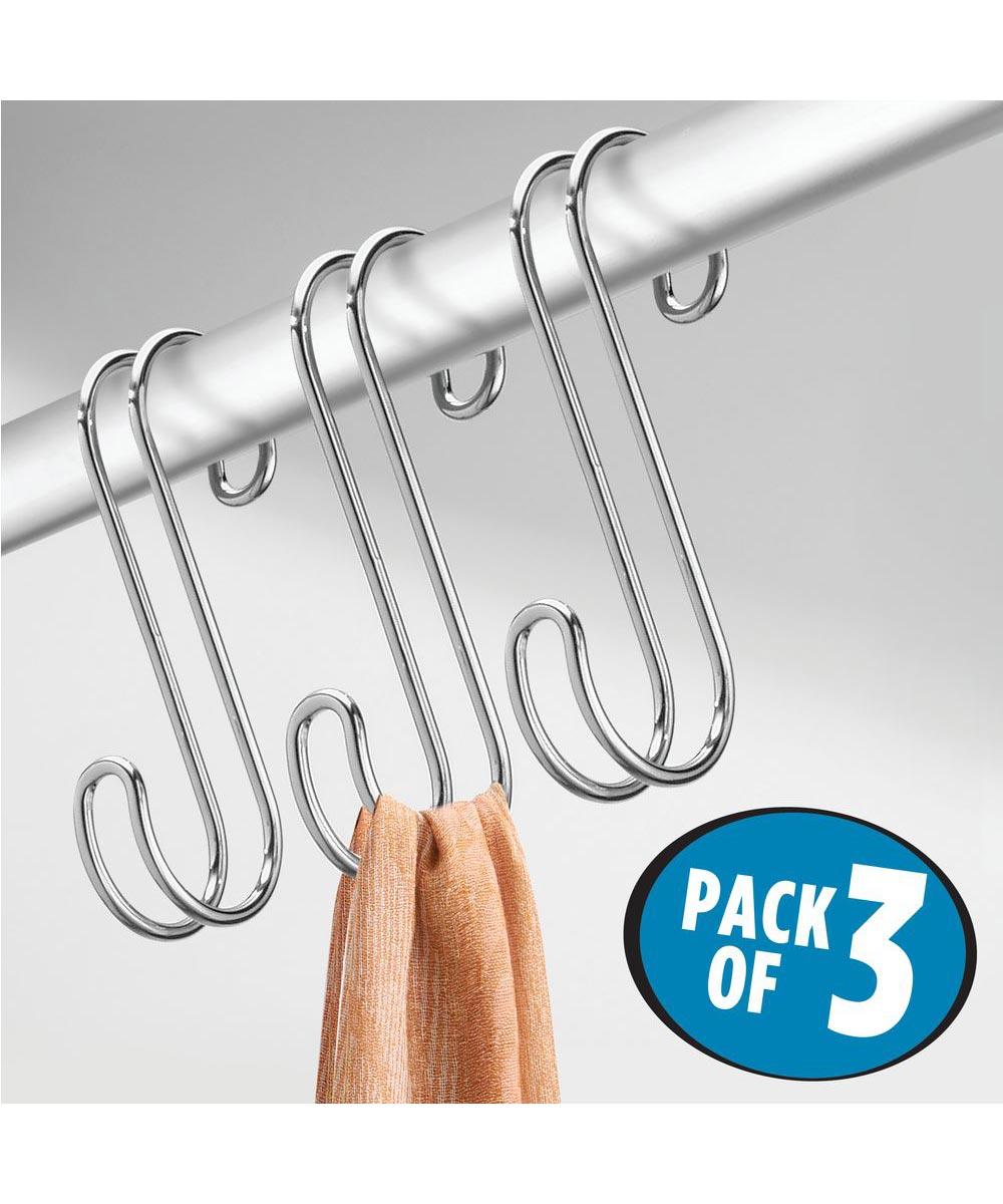 InterDesign Chrome Classico S Hooks, 3 Pack