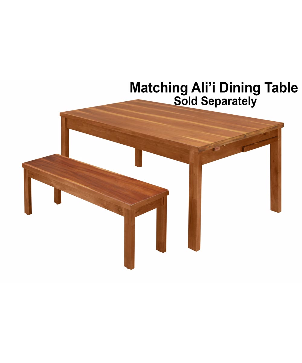 Alii Dining Bench, Koa Finish