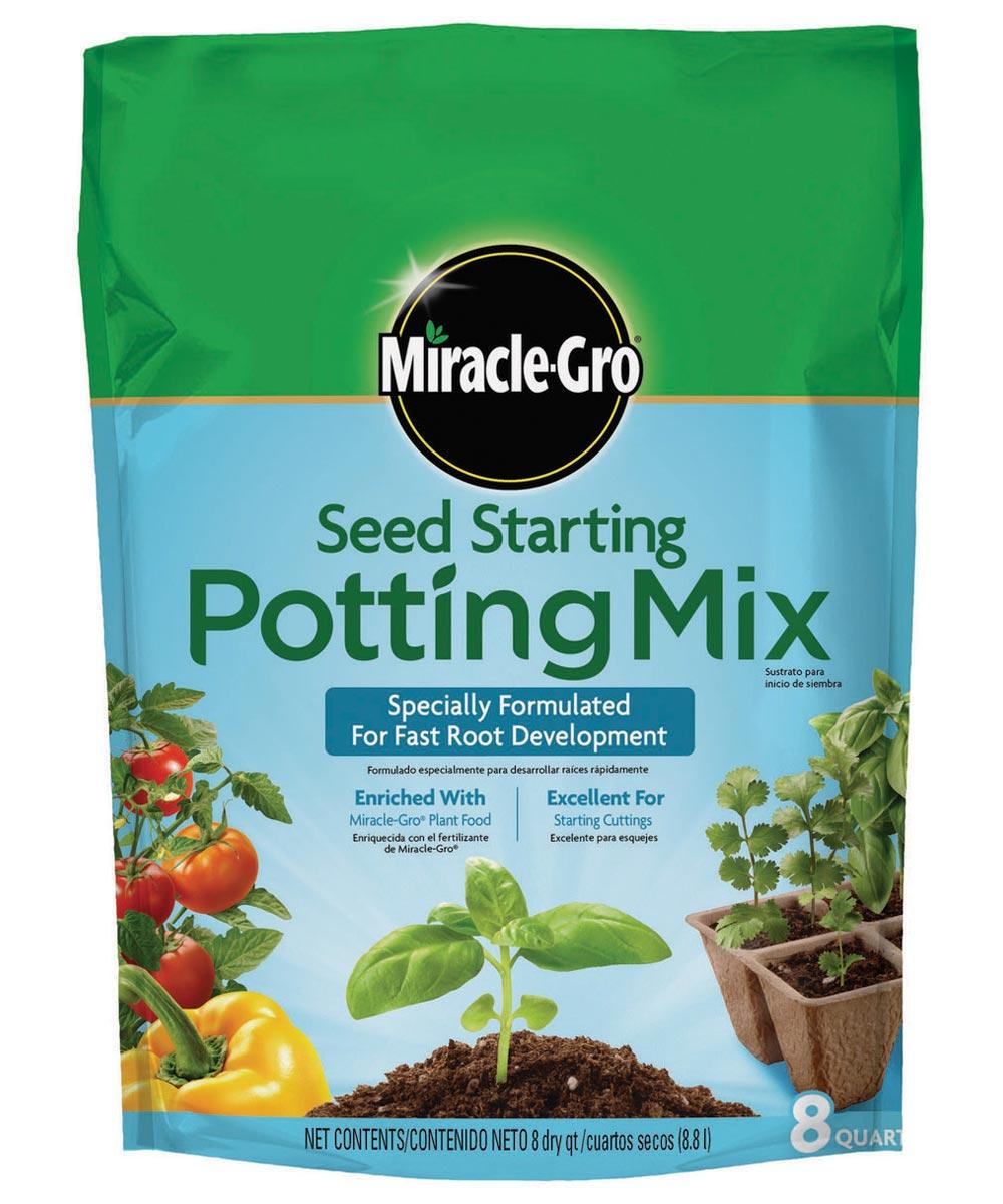 Miracle-Gro 8 Quart Seed Starting Potting Mix, 0.03-0.03-0.03