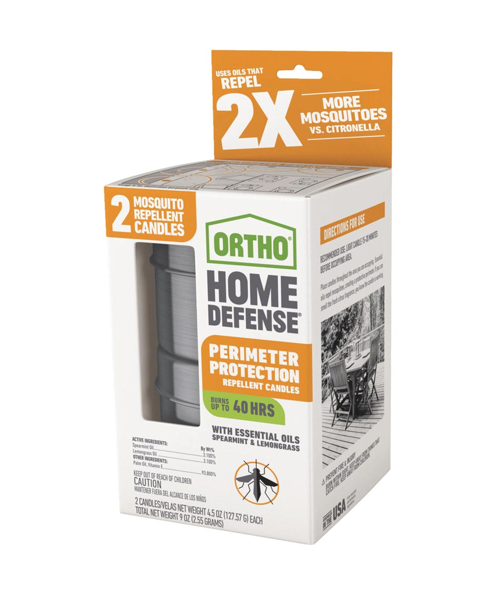 Ortho 2-Pack Home Defense Perimeter Protection Repellent Candles for Mosquitoes