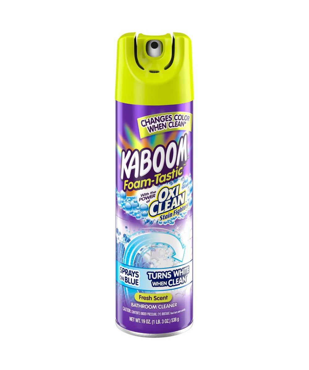 Kaboom Foam-Tastic Fresh Bathroom Cleaner with OxiClean, 19 oz., Fresh Scent