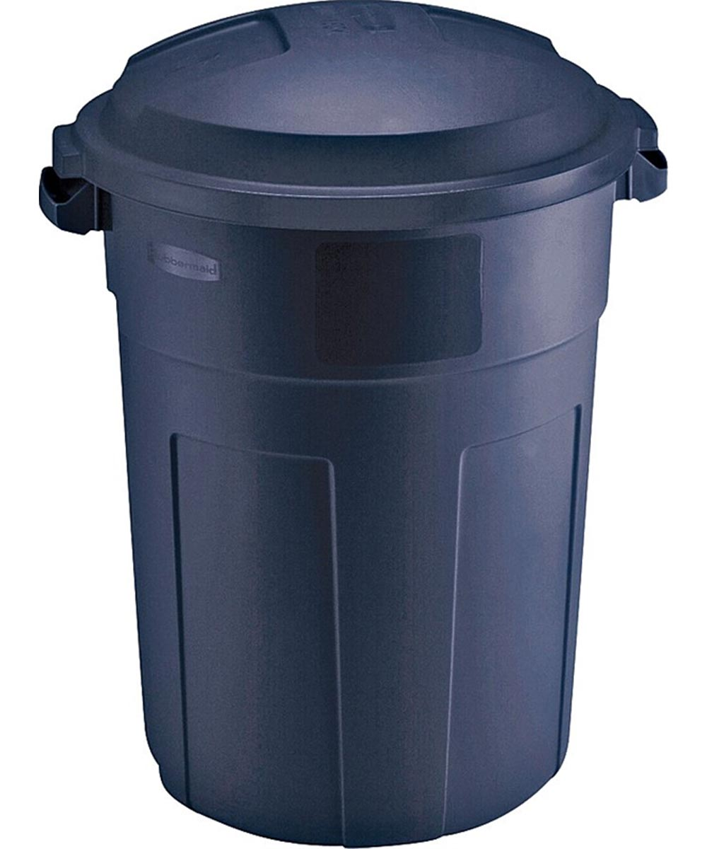 Rubbermaid 32 Gallon Trash Can with Snap-Fit Lid