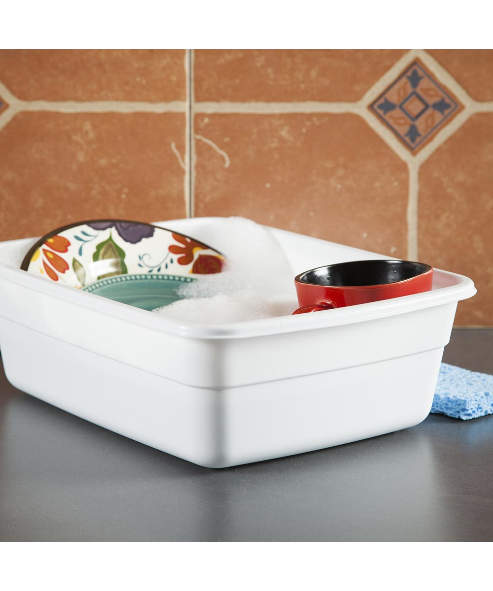 Sterilite 8 Quart White Dishpan