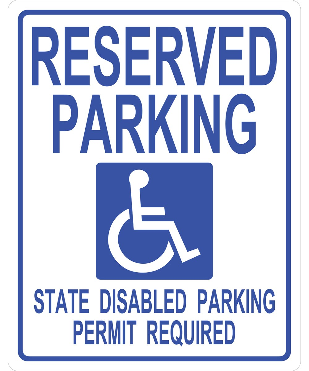 Handicapped Parking Sign 19 in. X 15 in.