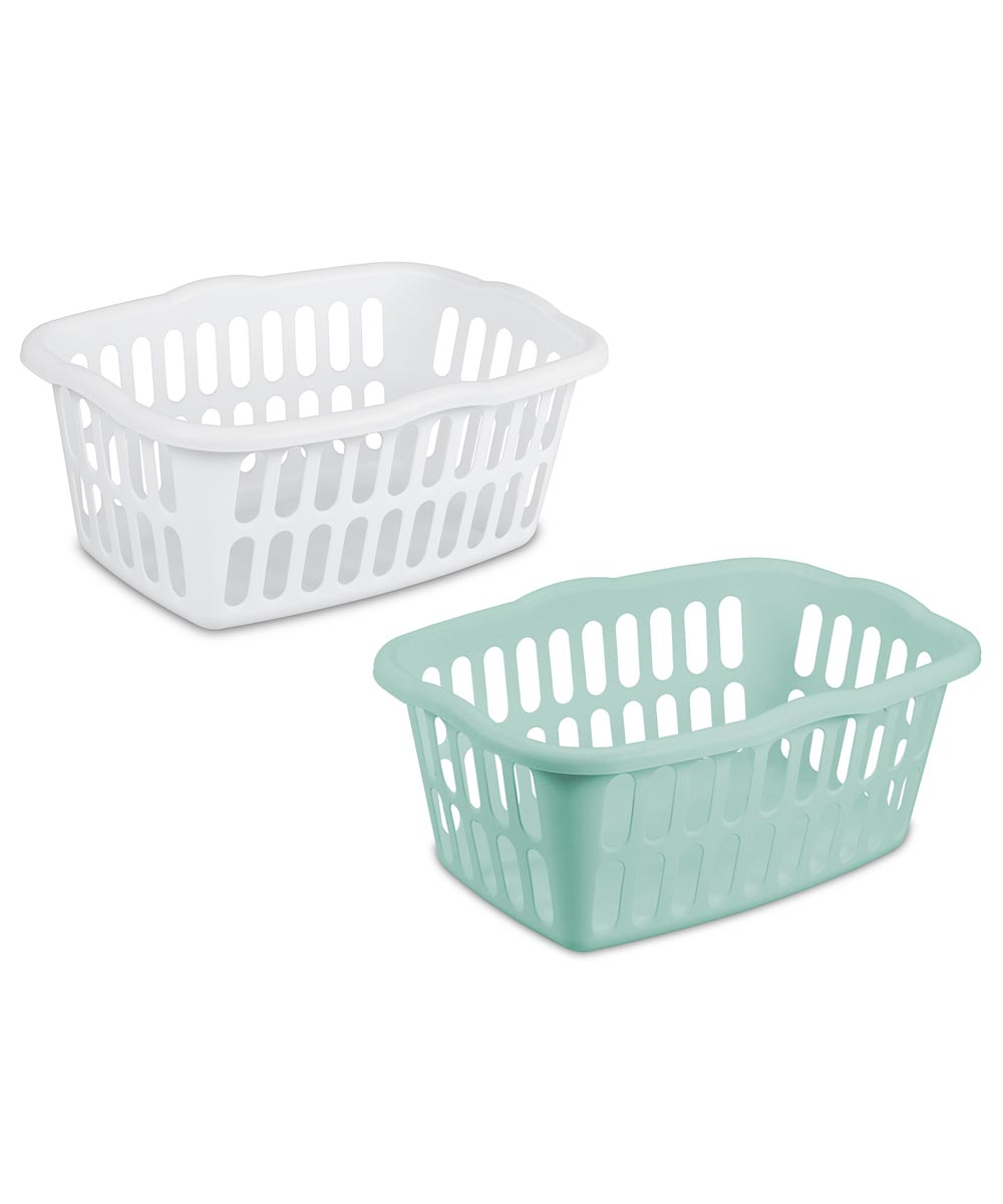 Sterilite Rectangular Laundry Basket, Assorted Colors