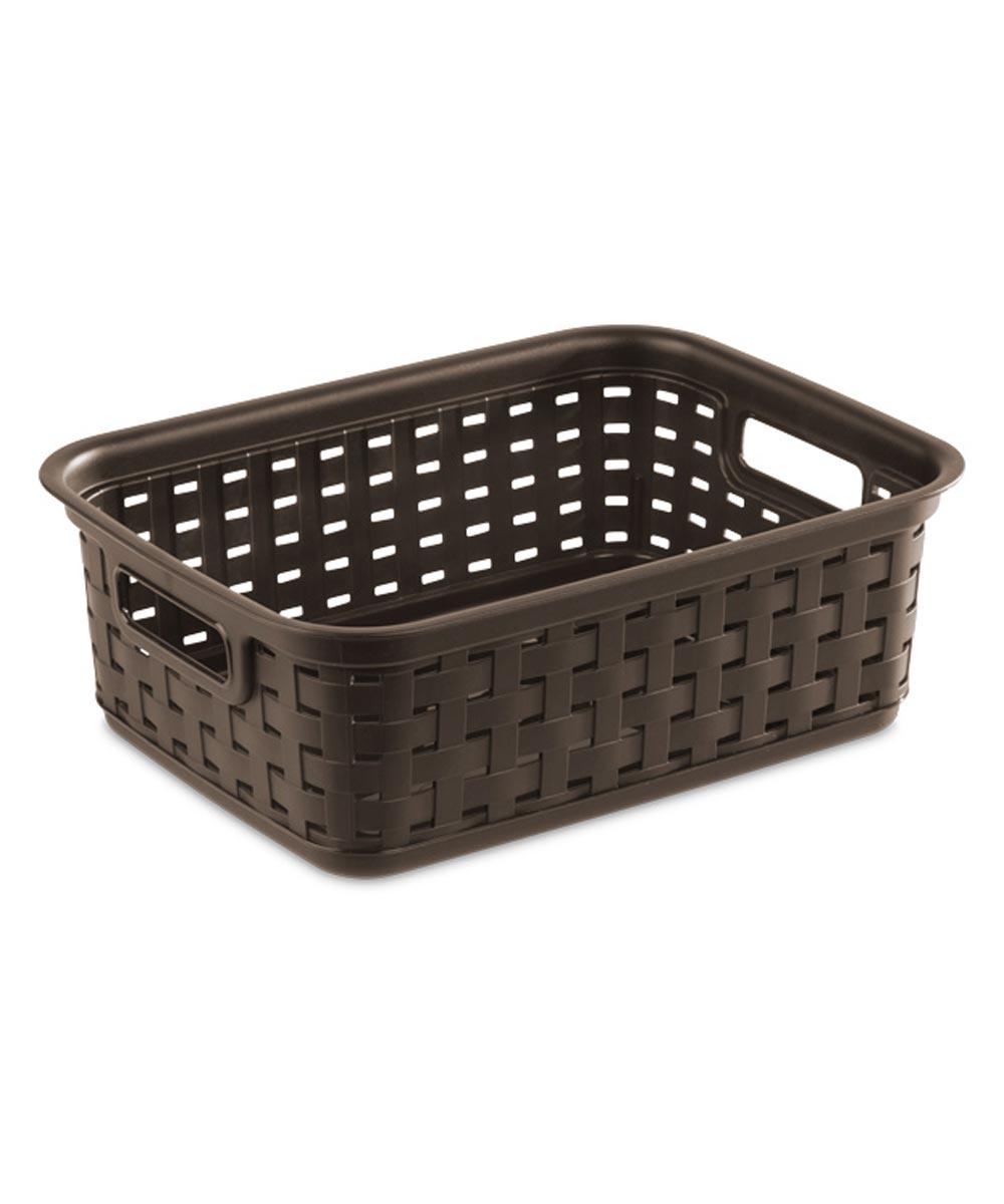 Sterilite Small Weave Basket, Espresso