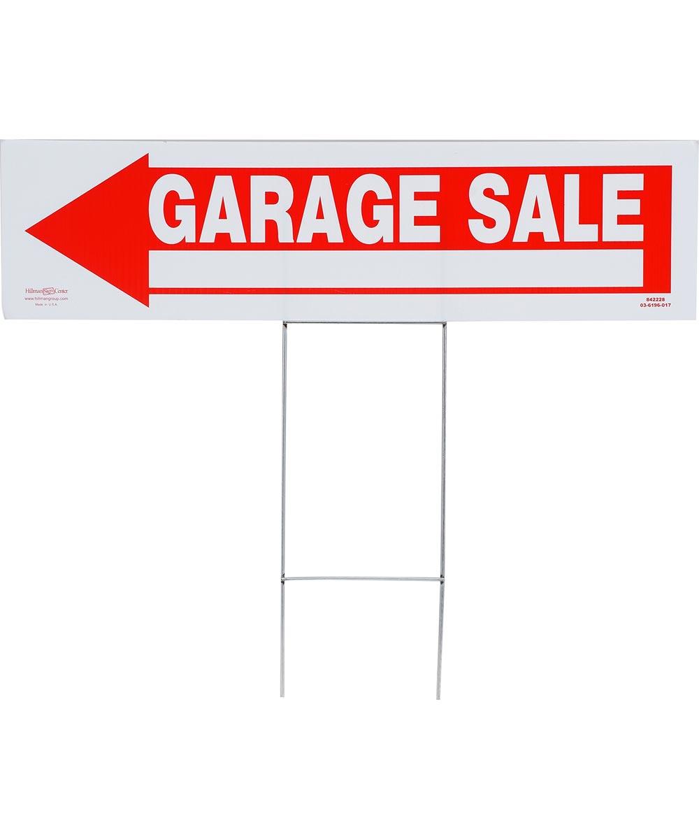 Arrow Shaped Garage Sale Sign 6 in. X 24 in.
