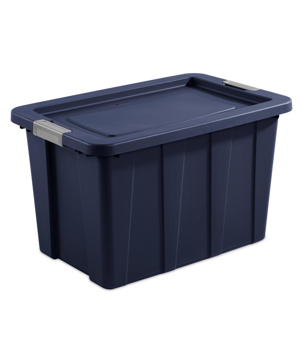 Sterilite 30 Gallon Tuff1 Latch Storage Tote, Dark Indigo