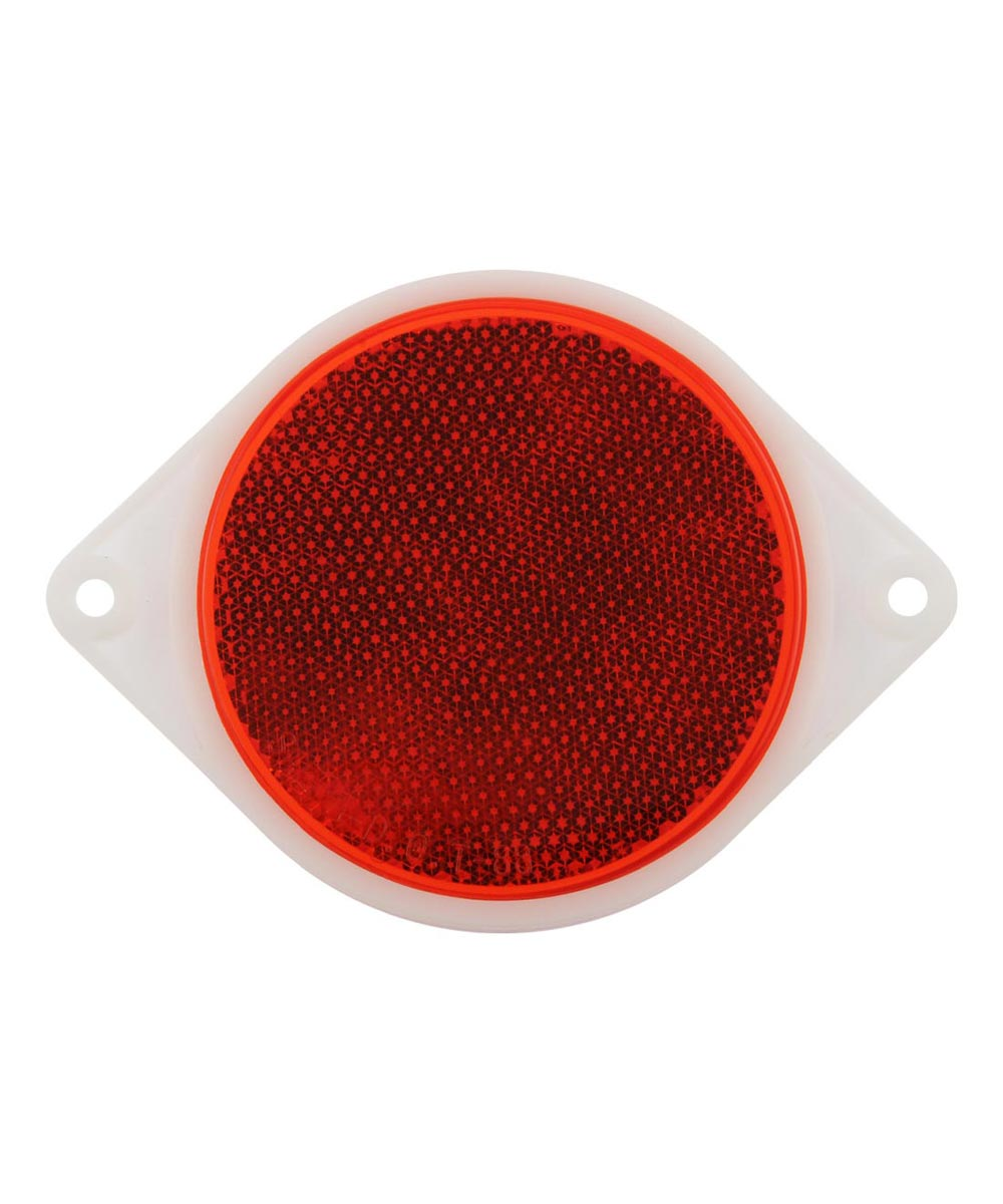 Adhesive 3 in. Reflector Red