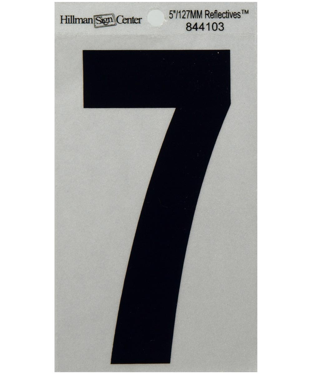 5 in. Black and Silver Reflective Adhesive Number 7